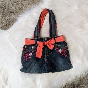 Handbags - 🛍️ Handmade | embroidered jean purse